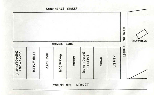 Street Plan taken from Local Notes.wordpress.com-Annandale