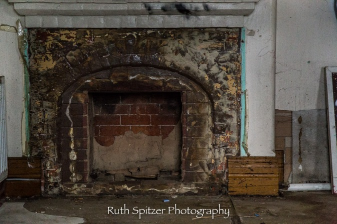 Fireplace in Abandoned St Johns Orphanage in Goulburn. Image by Ruth Spitzer
