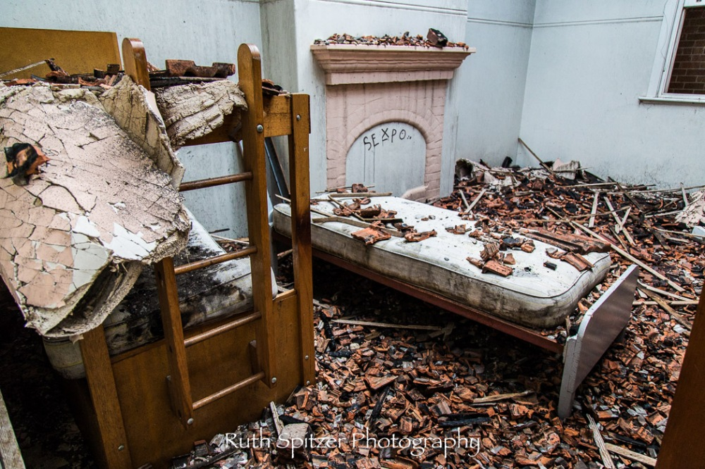 Bedroom of Abandoned St Johns Orphanage in Goulburn. Image by Ruth Spitzer